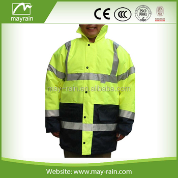 100% Polyester LED Safety Jacket W/ High Visibility Reflective Tape