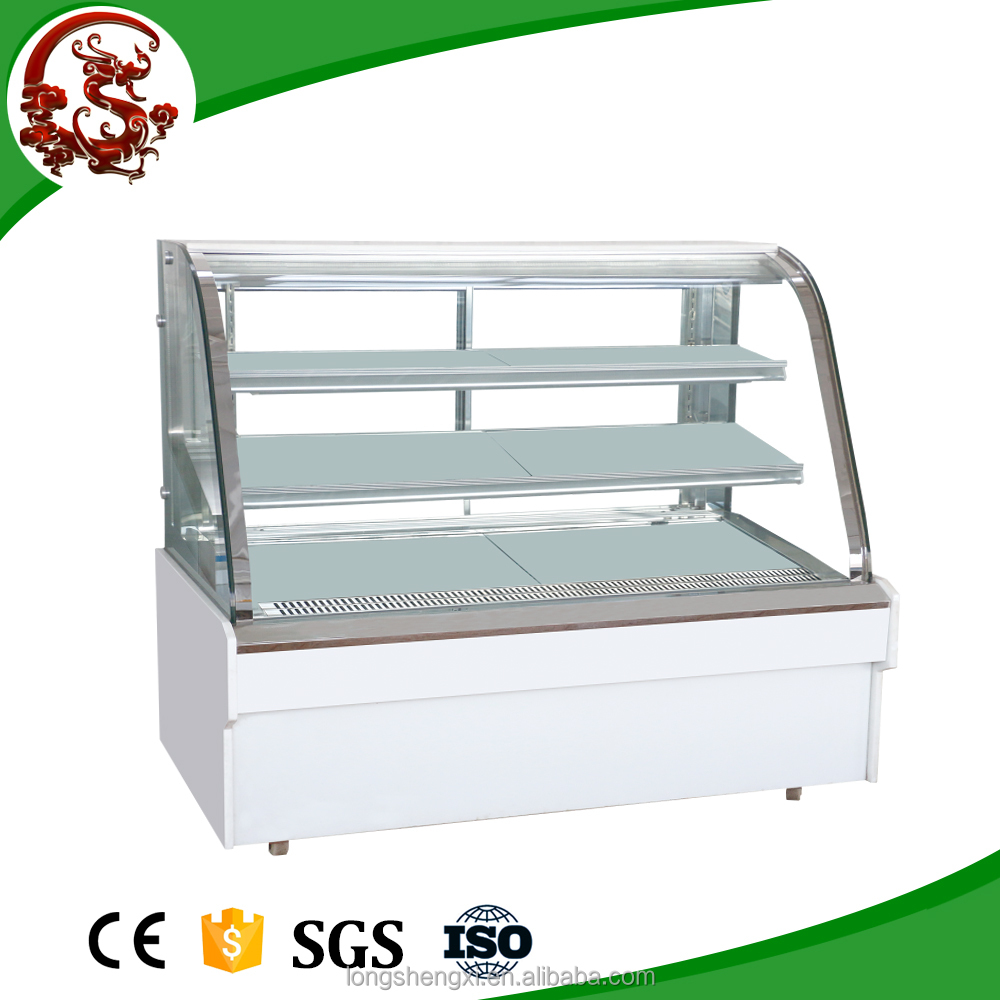 Flat sliding complete stainless steel deli food display chiller