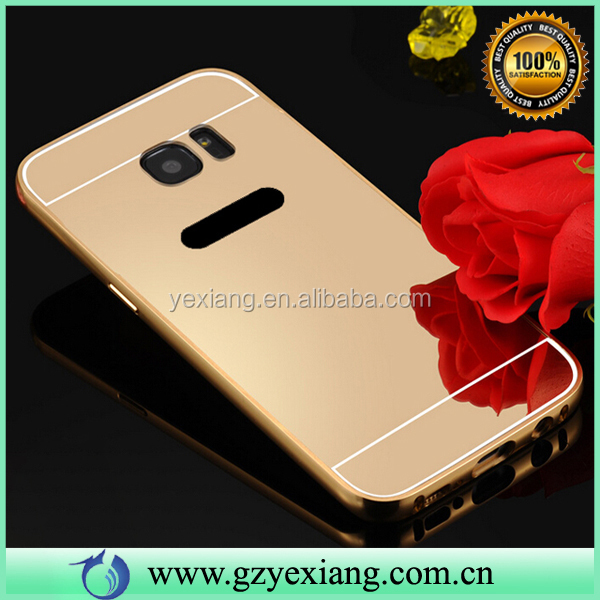 Best Sale Mirror Back Cover Aluminum Metal Case For Samsung Galaxy S7 Edge Cover