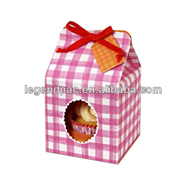 good quality cardboard christmas cupcake gift box