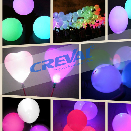 2017 Wholesale Colorful Flashing Heart Shape Light Up LED Latex Balloon Manufacturer for Festival Decoration