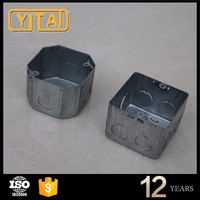 British Style 4 Gang Galvanized metal switch junction box