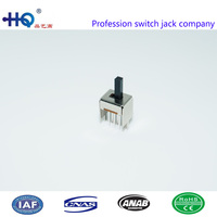 Affordable price vertical slide switches, 2p2t slide switches,SS-22d06