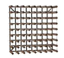 72 bottle DIY pine wood wine rack with metal trips for sale