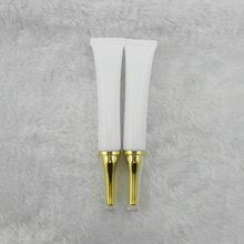 wholesale 30 ml white plastic tube golden acrylic horn cap BB Cream tube , Eye Cream cosmetics packaging 30 ml empty bottles