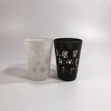 wholesale white and black dots glass candle holder yufeng made in China