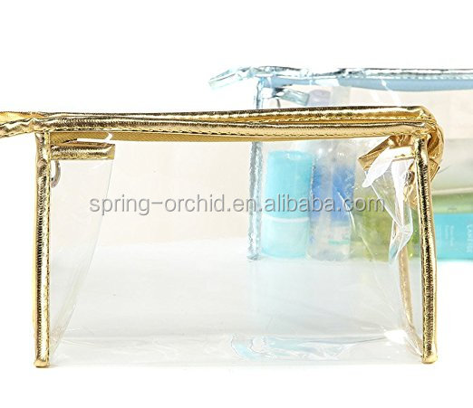Shine Color Waterproof Clear Transparent PVC Cosmetics Bag