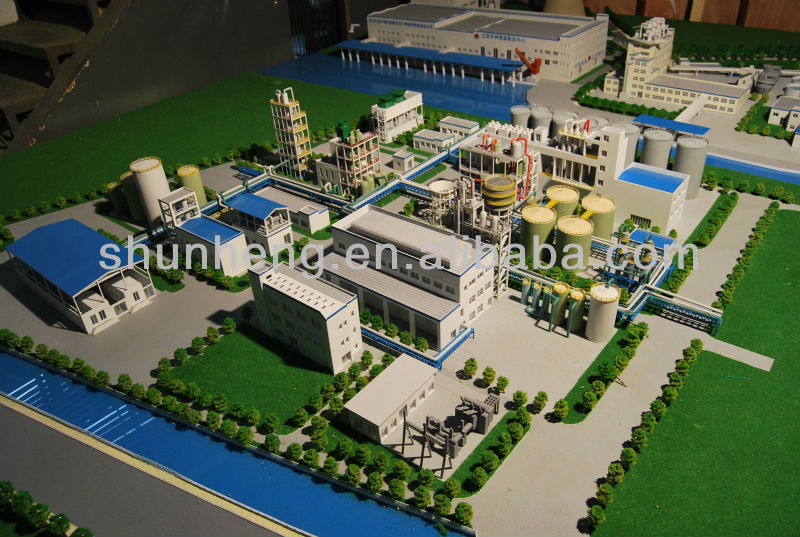 industrial workshop building layout model / industrial planning model