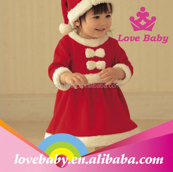LBE4091323 2014 cheapest children size baby santa suit wear