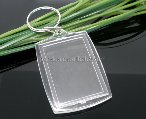 W/Transparent Acrylic Picture Frames Key Chain&Key Rings For photo
