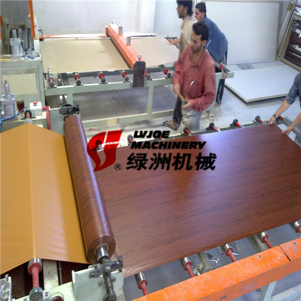 New Technology construction building material Gypsum Ceiling tiles Laminating Machine for prefabricated house