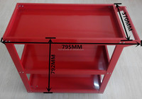 easy assembled custom steel tools cart/3 layers tool cart