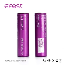 Genuine efest 3500mAh BATTERIES 18650 IMR 20A Purple FREE 18650 battery case