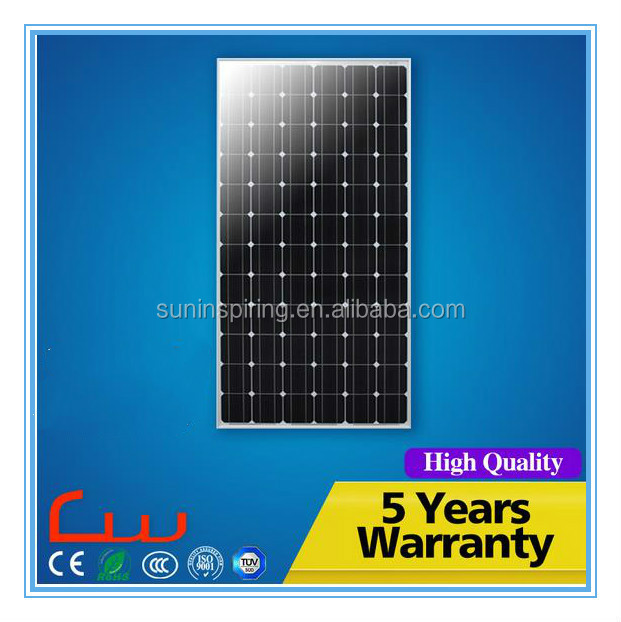Monocrystalline Silicon Material and 1956*982*45mm Size solar panels mono 300w for industrial use