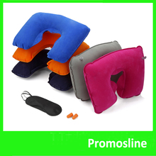 Hot Selling Inflatable Airline Travel Set Pillow/Ear Plug/Eye Shade Mask Sleep Set