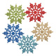 Wholesale cheap clear crystal ornament acrylic christmas tree snowflake decoration