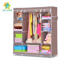 High quality storage folding wardrobe closet dustproof nonwoven fabric large 3 door bedroom wardrobe design