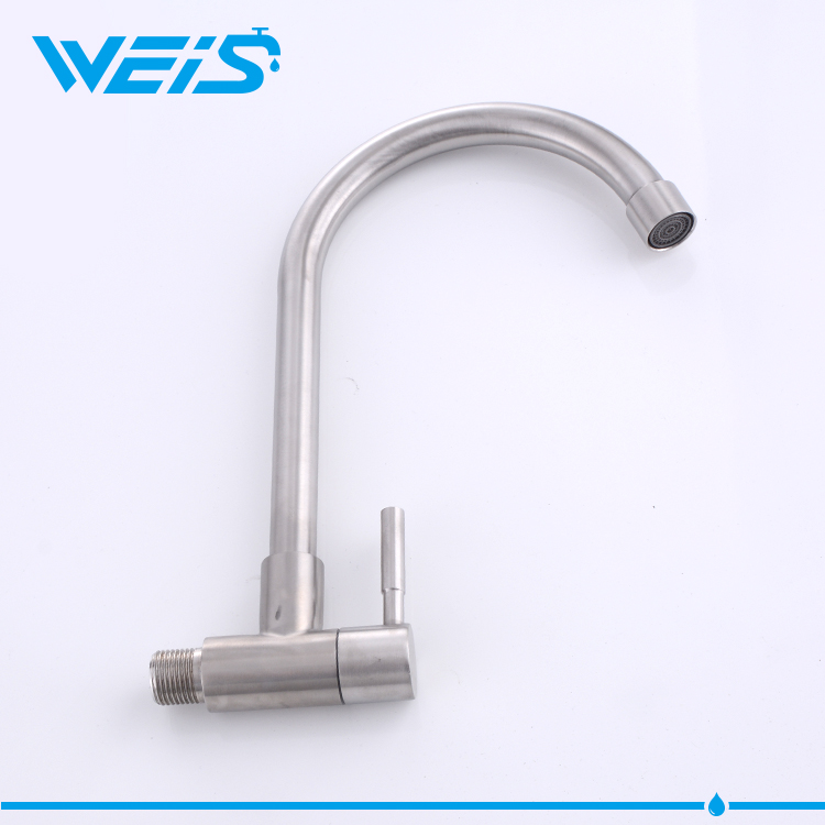 China New Wholesale Single Handle Stainless Steel Drinking Water Faucet For Kitchen Sink