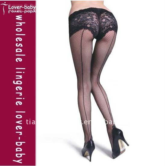 Fishnet Pantyhose With Built In Panty