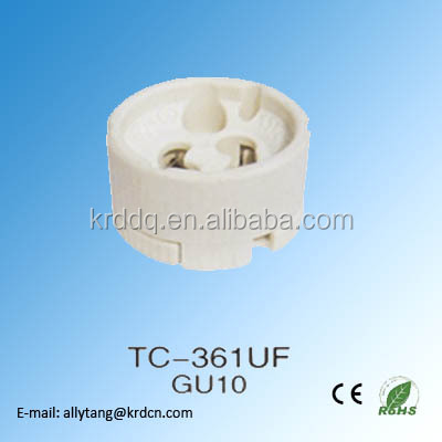 4A 250V porcelain gu10 lamp holder