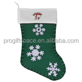 2017 fashion hotsell eco friendly natural felt handmade wholesale decorative knit christmas stocking decorations made in China