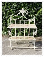 H67cm! Garden lovely ourdoor french style antique metal wrought iron plant stand/decorative folding shelf/garden display stands