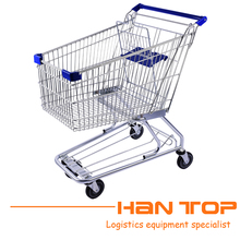 American style foldable wheeled supermarket shopping trolley HAN-A100 134