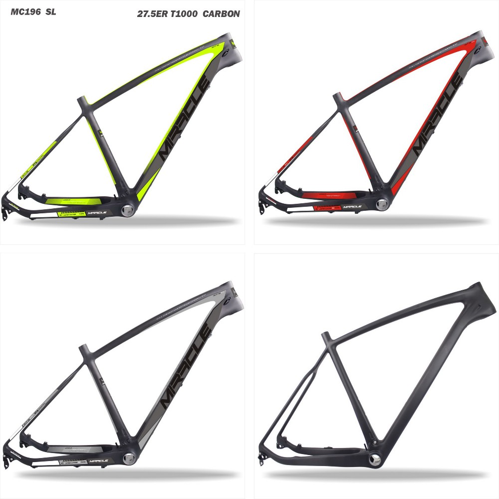 Miracle painting chinese carbon frame for mtb super light T1000 27.5 carbon mtb mountain bike frame