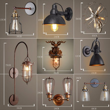 loft metal and wood decorative single wall light, unique austrialia wall lamp, china wholesale wall sconce for parlor