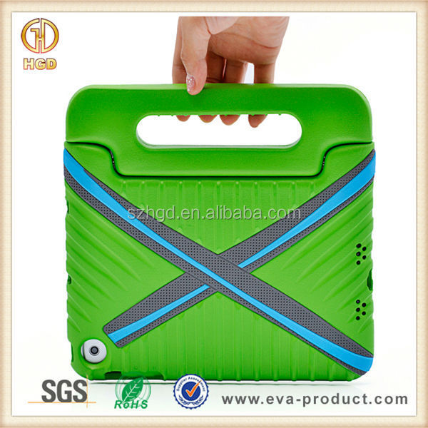 XPlayBox shock resistant EVA case for ipad mini tablets with 180 degree rotatable grip handle