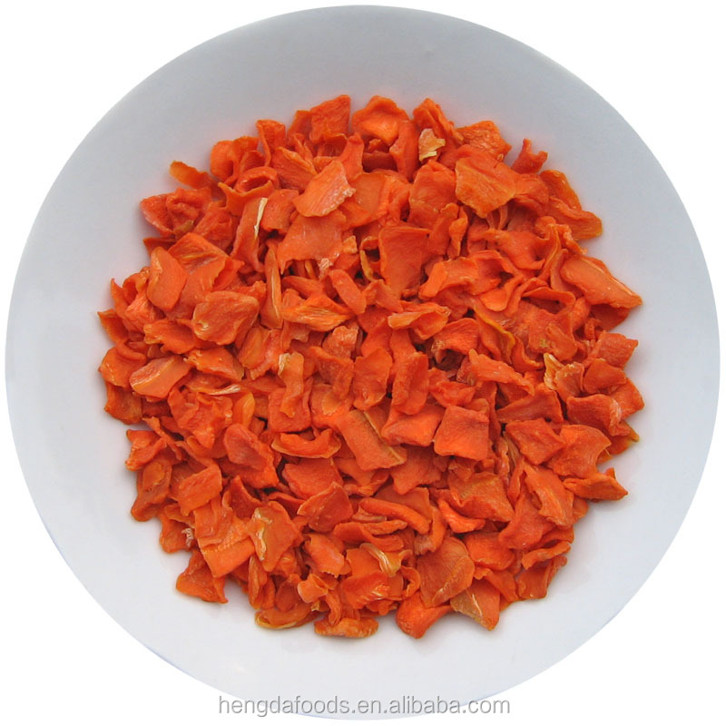 2016 New Crop Dehydrated Minced Carrot, 10*10*3mm, Carrot Granules from China