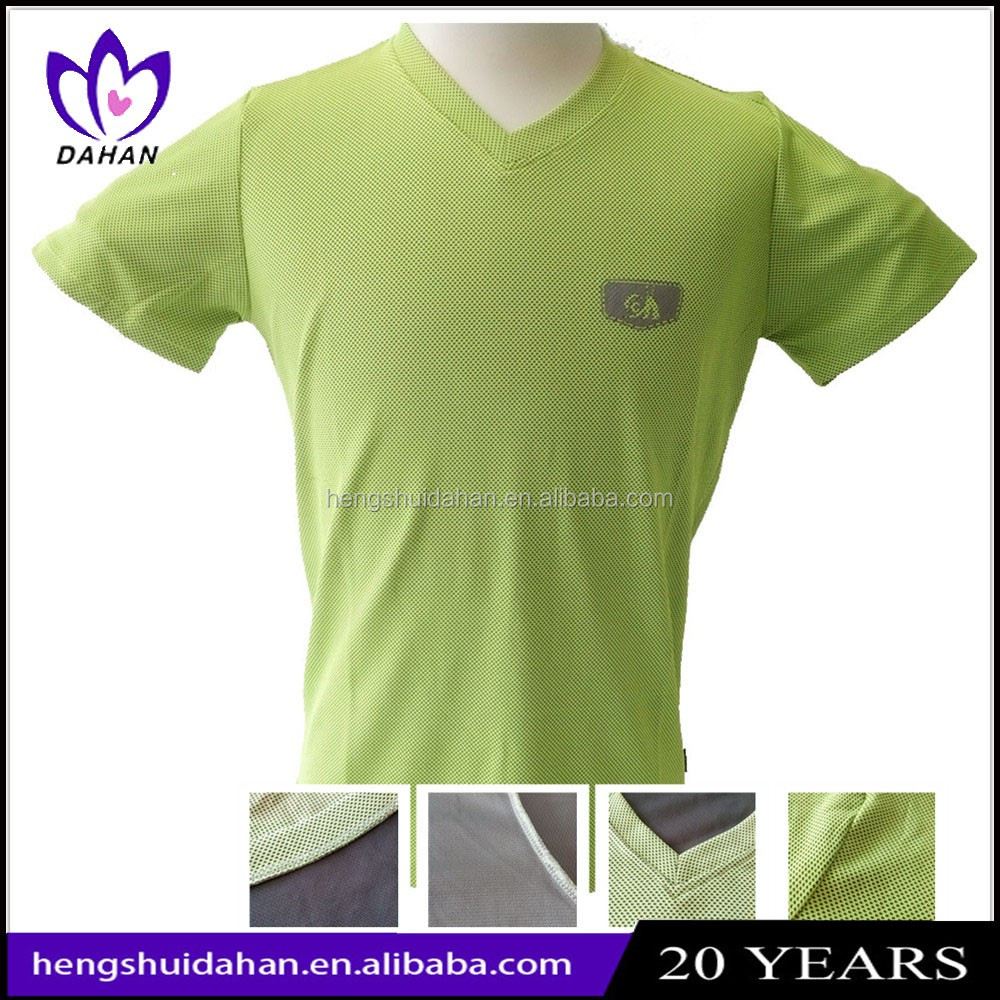 China supplier antibacterial clothing anti-UV man's t-shirt microfiber fabric quick dry Dri-fit Tee