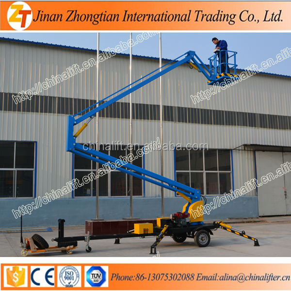 ZTTM-12 12m elevated work platform/articulated boom lift/telescopic aerial work platform