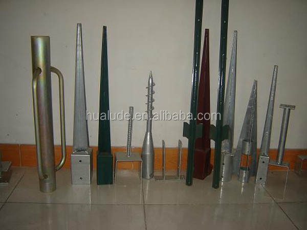 Screw pole / sand anchor / ground screw spike for buildings