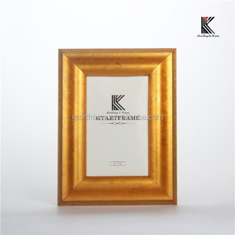 wood golden painting frame