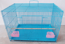 Square Blue Painting Large Pet Cage Wire Mesh Folding Parrot Bird Cage With Cheap Price