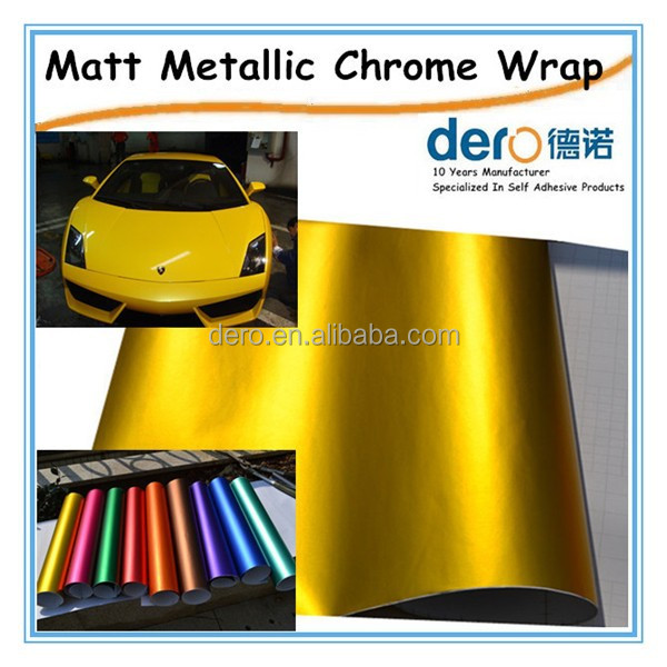 Yellow pearl chrome metallic car wrapping vinyl roll