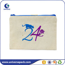 Oem Embroidery Logo Canvas Book Gift Pouch With Zipper