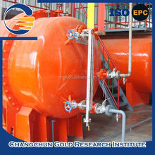 Hot sale non cyanide type mobile cil gold processing plant