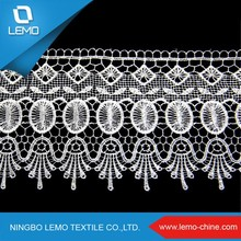 lemo Ladies Suit Neck Design Lace , Wholesales Embroidery Lace