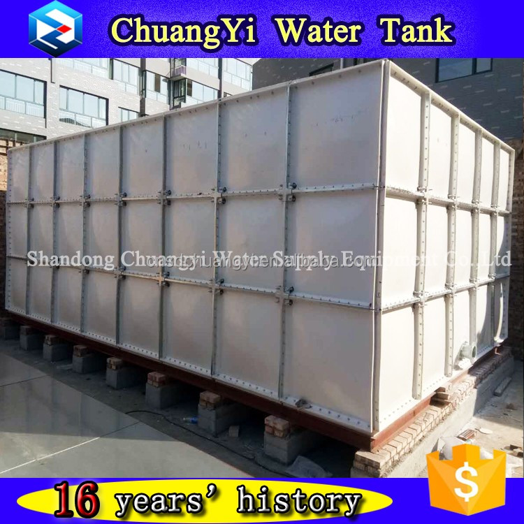 Hot sale small grp water storage tank/frp smc sectional water storage tank/smc assembled water tank