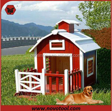 Manufacturer New Design Competitive Price 70Lx80Wx80Hcm Outdoor Large Wooden Dog House With Balcony