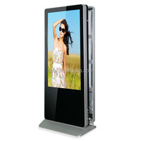 Double sided lcd display 55 inch floor stand 1920x1080 full HD kiosk