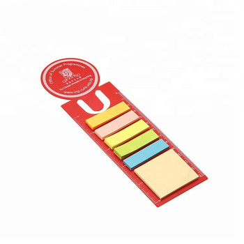 New design custom die cut ruler paper sticky notes with holder