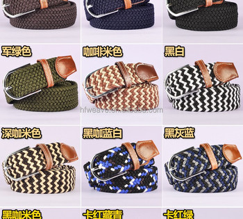 Leather woven fashion braided belts