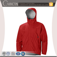 oem supplier windbreaker 100% polyester soft shell jacket with fixed hood