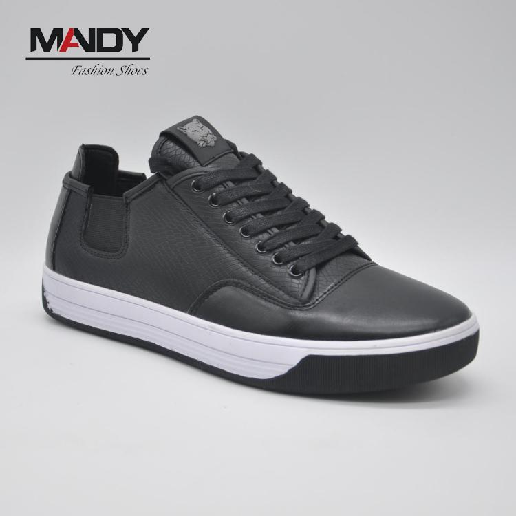 2017 men fashion wholesale durable high cut PU upper shoes sneakers