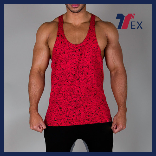 2016 Wholesale High quality best selling products cotton vest y back stringer tank tops for men