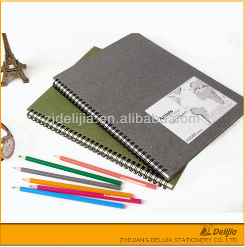 School blank paper hardcover spiral cheap drawing notebook sketch