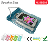 2015 Popular stylish pvc waterproof speaker bag outdoor waterproof portable speakers case for mobile phone